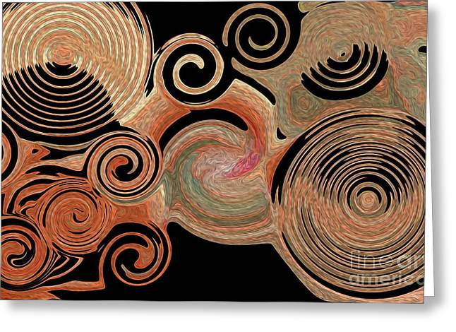 - Circles Of My Mind Greeting Card by Sherri  Of Palm Springs