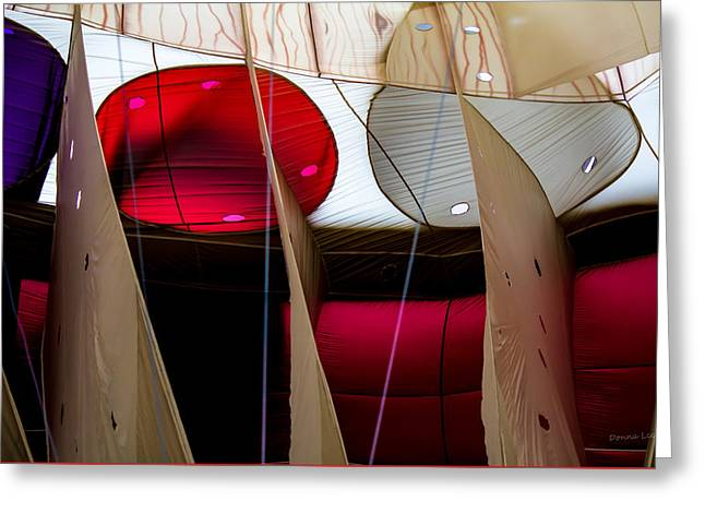 Circles Within Circles - Inside A Hot Air Balloon Greeting Card by Donna Lee
