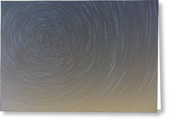 Circling Polaris Greeting Card by Tim Grams