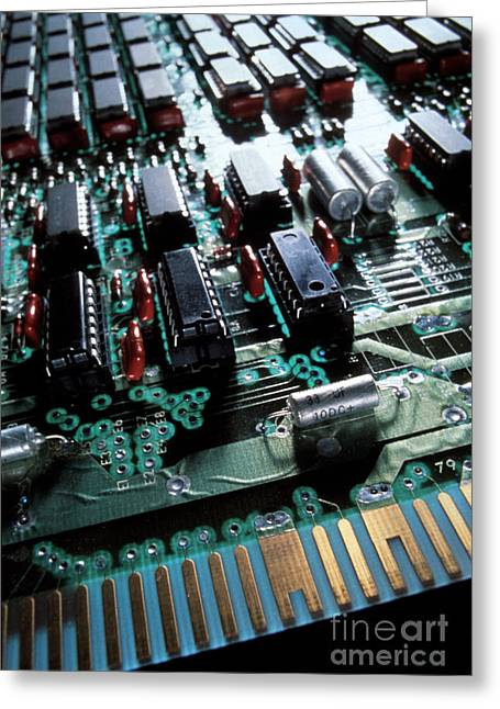 Printed Circuit Board Greeting Cards - Circuit Board Greeting Card by Jerry McElroy