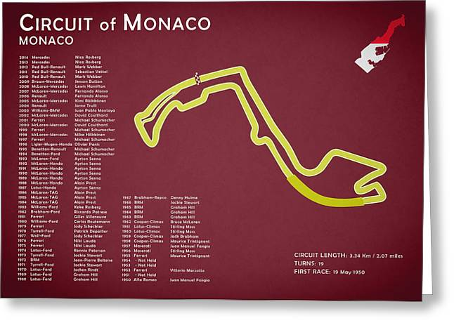Monaco Greeting Cards - Circuit of Monaco Greeting Card by Mark Rogan