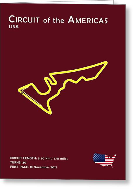 Circuit Greeting Cards - Circuit of the Americas Greeting Card by Mark Rogan