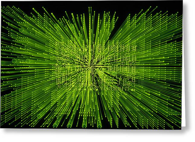 Warp Speed Greeting Cards - Circuit Zoom Greeting Card by Jerry McElroy