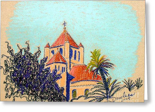 Charleston Pastels Greeting Cards - Circular Congregation Church Greeting Card by Ann Dowless