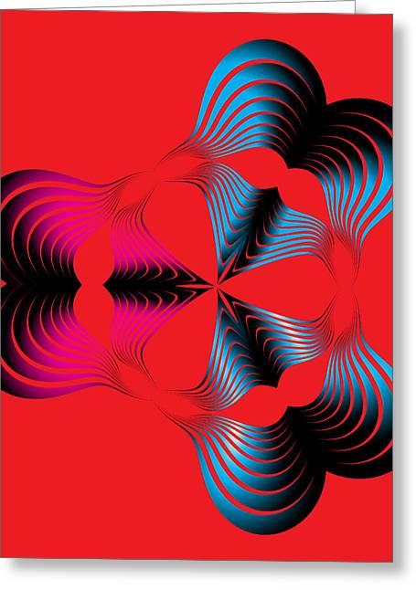 Geometric Digital Art Greeting Cards - Circularity No. 294 Greeting Card by Alan Bennington