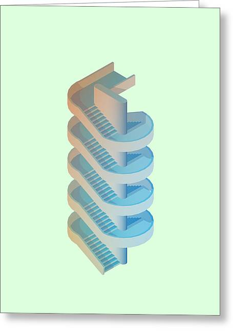 Brutalism Greeting Cards - Circulation Greeting Card by Peter Cassidy