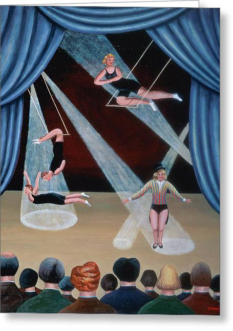 Circus Acrobats Greeting Card by Jerzy Marek