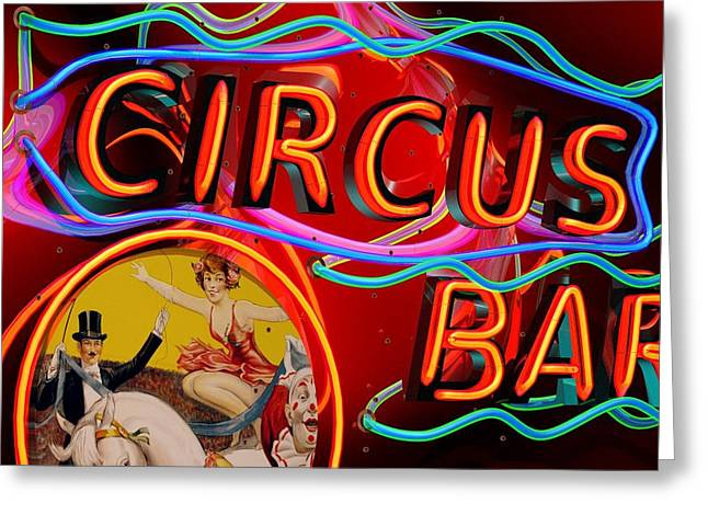 Circus Graphics Greeting Cards - Circus Bar Greeting Card by Larry  Page
