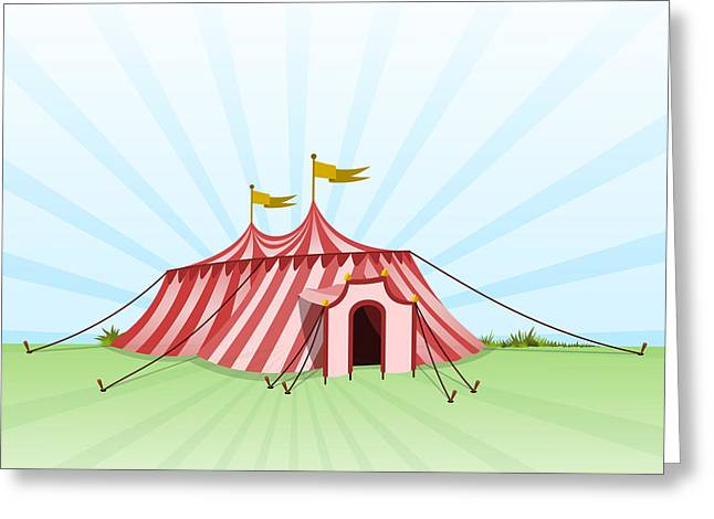 Outdoor Theater Greeting Cards - Circus Entertainment Tent Greeting Card by Vitezslav Valka