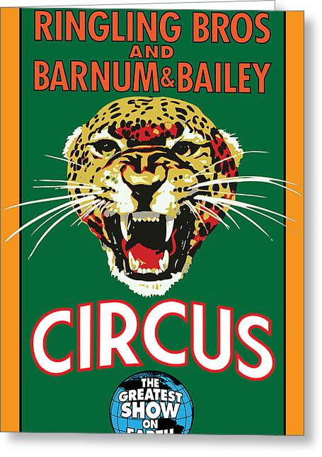 Vector Posters Greeting Cards - Circus Greeting Card by Gary Grayson