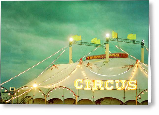 Circus II Greeting Card by Violet Gray