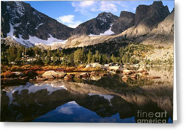 Cirque Greeting Cards - Cirque Of The Towers In Lonesome Lake Greeting Card by Tracy Knauer