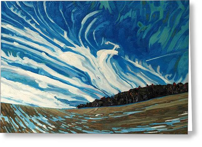 Algonquin Greeting Cards - Cirrus Fingers Greeting Card by Phil Chadwick