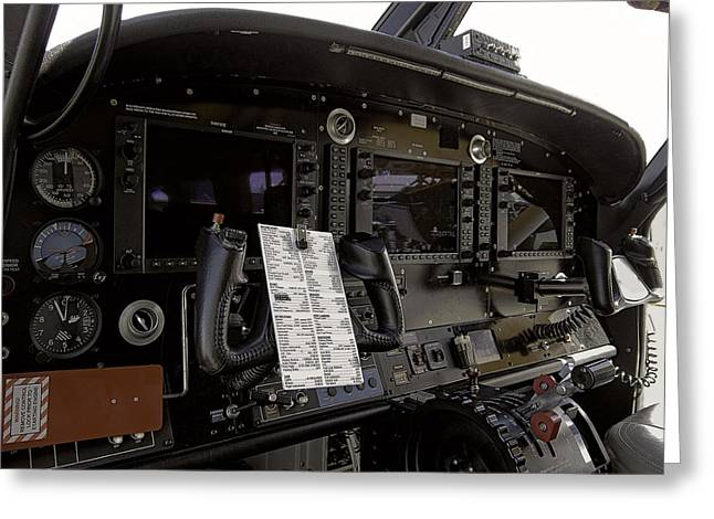 Single-engine Photographs Greeting Cards - Cirrus S R 22 Cockpit Greeting Card by Daniel Hagerman