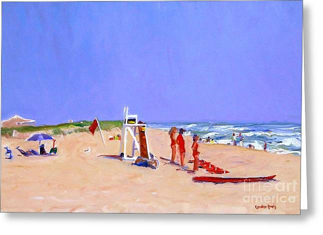 Sand Dunes Paintings Greeting Cards - Cisco Beach Greeting Card by Candace Lovely