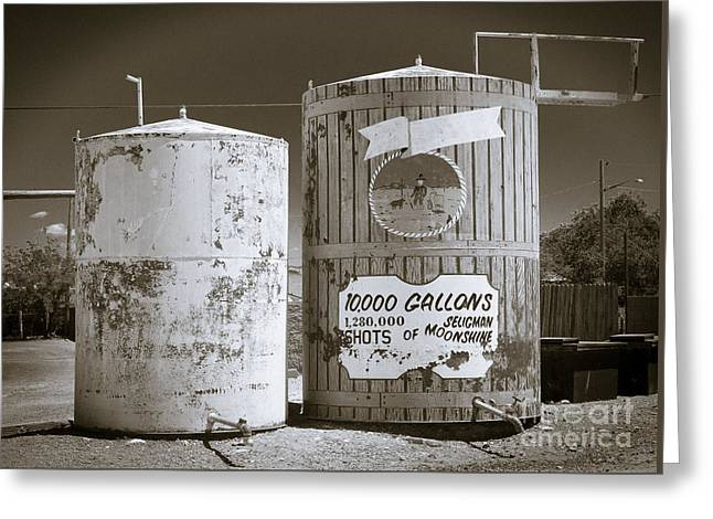 Virginia Postcards Greeting Cards - Cistern Seligman AZ Greeting Card by  ILONA ANITA TIGGES - GOETZE  ART and Photography