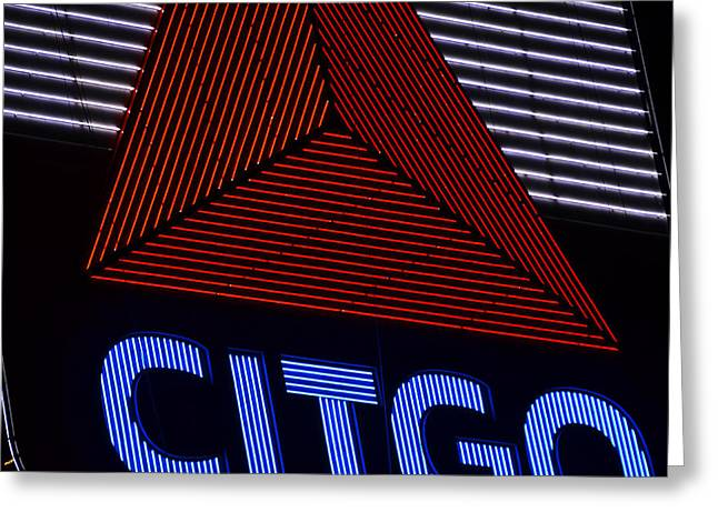 Citgo Sign Closeup Boston Ma Greeting Card by Toby McGuire