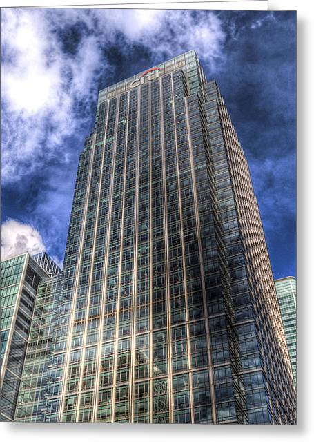 Citi Greeting Cards - Citi Bank Tower London Greeting Card by David Pyatt