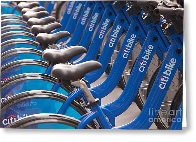 Citi Greeting Cards - Citi Bike Bicycles I Greeting Card by Clarence Holmes