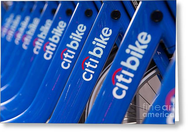 Citi Greeting Cards - Citi Bike Bicycles III Greeting Card by Clarence Holmes