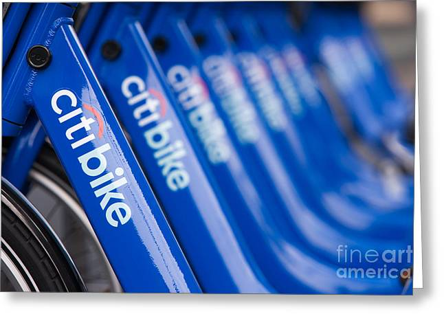 Citi Greeting Cards - Citi Bike Bicycles V Greeting Card by Clarence Holmes