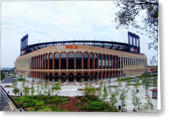 Citi Field Baseball Stadium Greeting Card by Nishanth Gopinathan