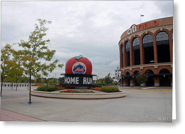 Shea Stadium Digital Greeting Cards - Citi Field Greeting Card by Rob Hans