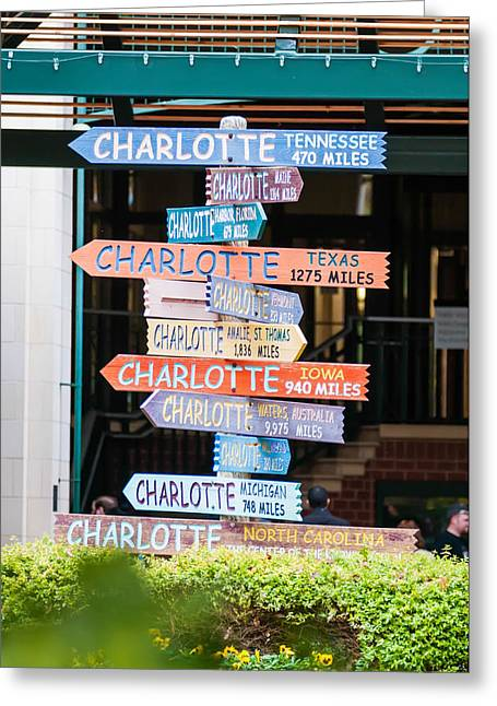 Charlotte Greeting Cards - Cities Direction Sign Greeting Card by Alexandr Grichenko