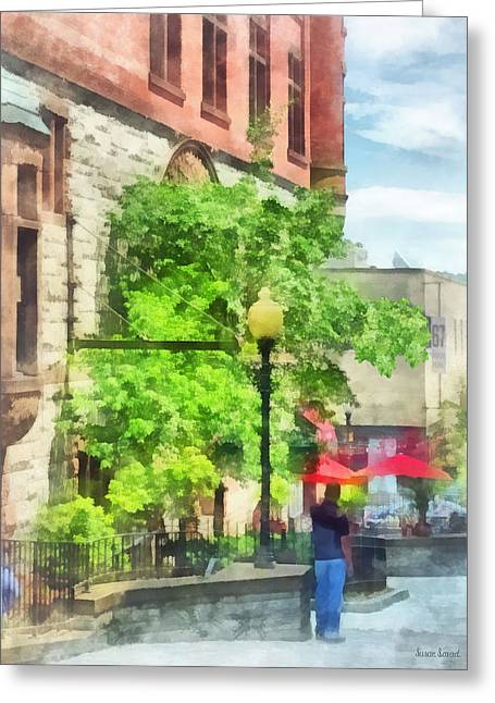 Albany Greeting Cards - Cities - North Pearl Street  Albany NY Greeting Card by Susan Savad