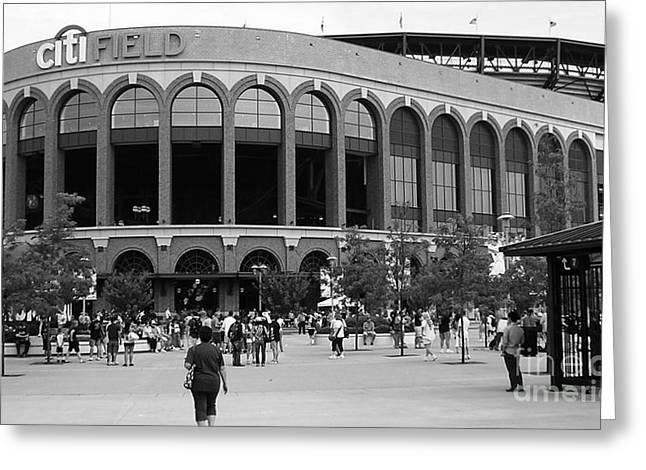 Citifield Greeting Cards - Citifield Greeting Card by Catherine Howley