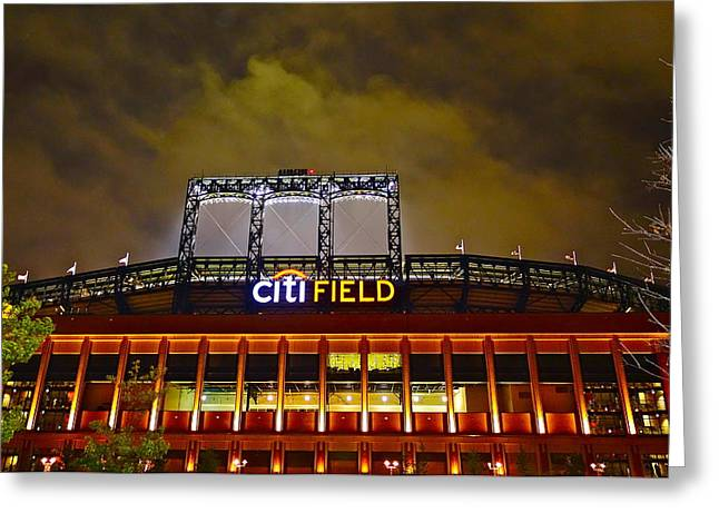 Citifield Greeting Cards - Citifield Greeting Card by Dianne Somma