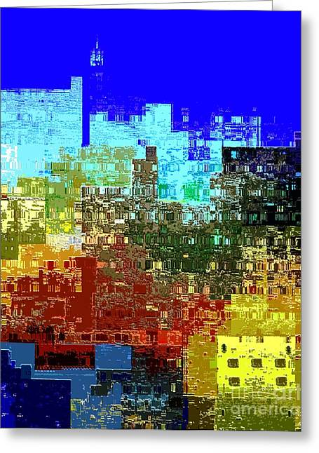 Deconstructed Greeting Cards - Citiscape NYC Greeting Card by Dale   Ford