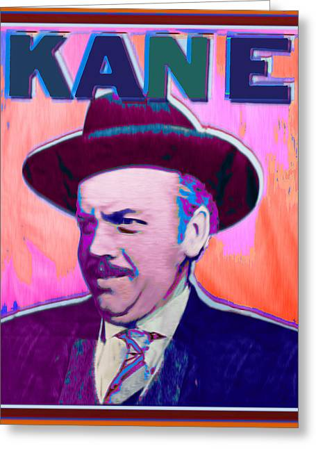 Citizens Mixed Media Greeting Cards - Citizen Kane Orson Welles Campaign Poster Color Greeting Card by Tony Rubino