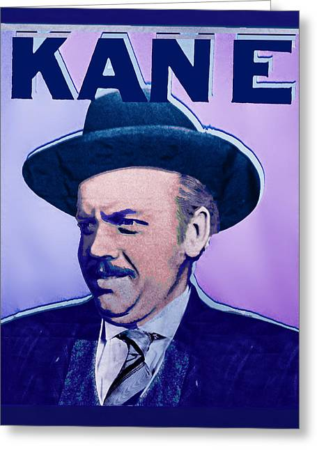 Citizens Mixed Media Greeting Cards - Citizen Kane Orson Welles Campaign Poster Greeting Card by Tony Rubino