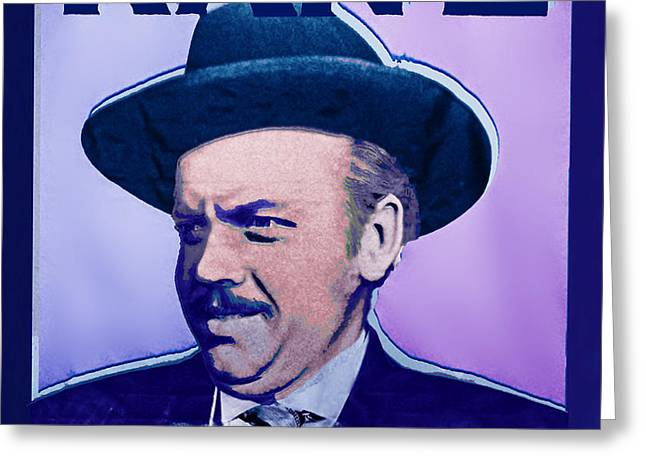 Wealth Mixed Media Greeting Cards - Citizen Kane Orson Welles Campaign Poster Greeting Card by Tony Rubino