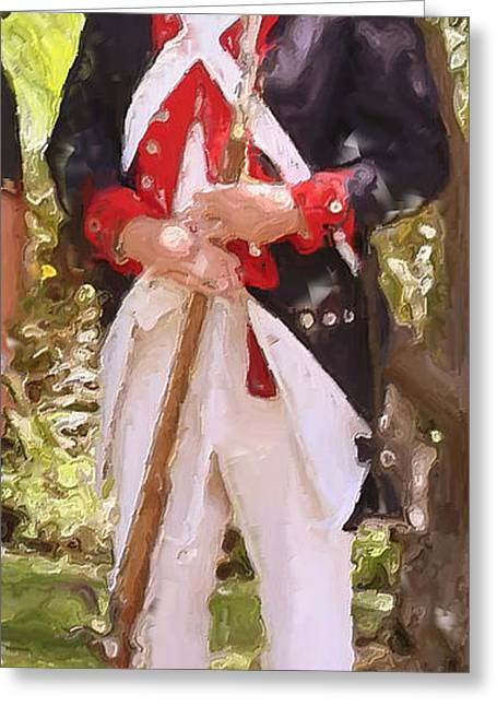 Bayonet Paintings Greeting Cards - Citizen Soldier Nbr 1 Greeting Card by Will Barger