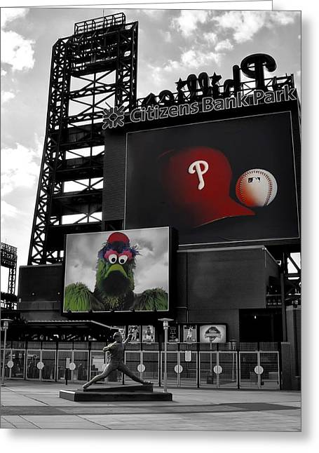 Phillie Digital Greeting Cards - Citizens Bank Park Philadelphia Greeting Card by Bill Cannon