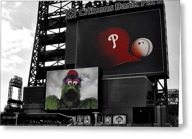 Citizens Bank Park Philadelphia Greeting Card by Bill Cannon