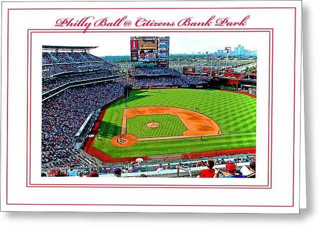 Pennsylvania Baseball Parks Digital Art Greeting Cards - Citizens Bank Park Phillies Baseball Poster Image Greeting Card by A Gurmankin