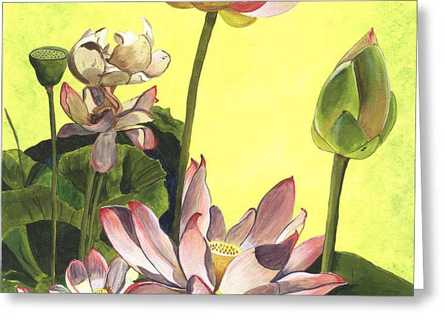 Citron Lotus 1 Greeting Card by Debbie DeWitt