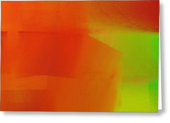 Tangerine Greeting Cards - Citrus Connections Abstract Square 2 Greeting Card by Andee Design