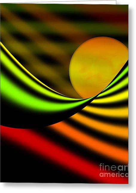 Gold Lime Green Greeting Cards - Citrus Hues Greeting Card by Kathryn L Novak