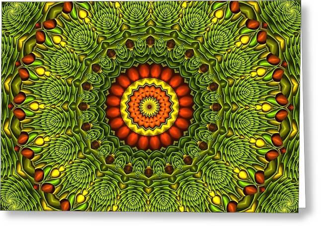 Tangy Digital Art Greeting Cards - Citrus K20-34 Greeting Card by Doug Morgan