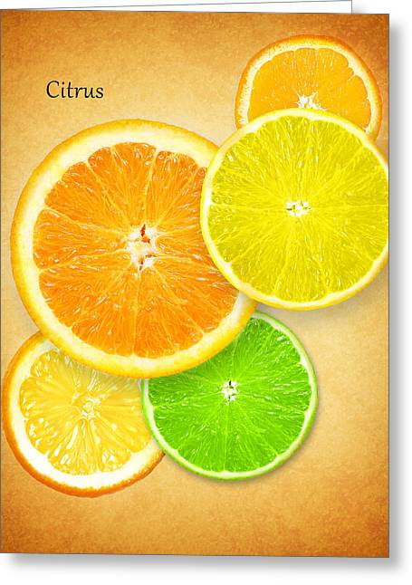 Food And Beverage Greeting Cards - Citrus Greeting Card by Mark Rogan