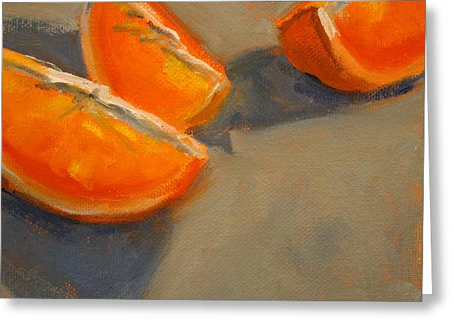 Tangerine Greeting Cards - Citrus Meetup Greeting Card by Nancy Merkle