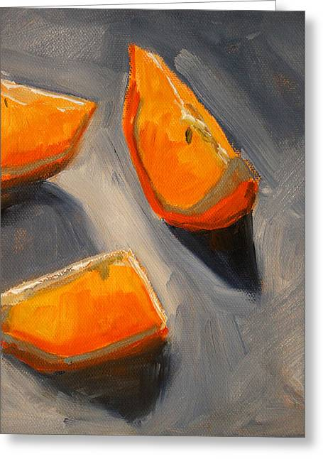 Tangerine Greeting Cards - Citrus Mix Up Greeting Card by Nancy Merkle