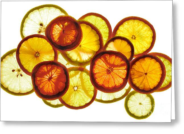 Limoni Greeting Cards - Citrus Ring Greeting Card by Stefano Bertolucci