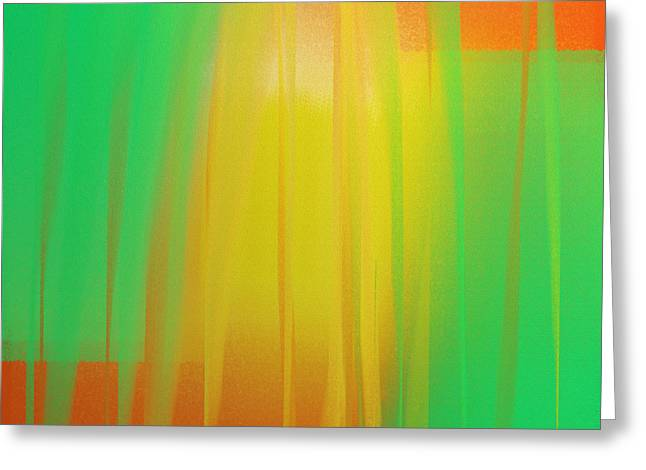 Tangerines Digital Greeting Cards - Citrus Slices Abstract 1 Greeting Card by Andee Design