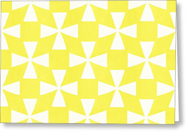 Repeated Pattern Greeting Cards - Citrus Twirl Greeting Card by Linda Woods