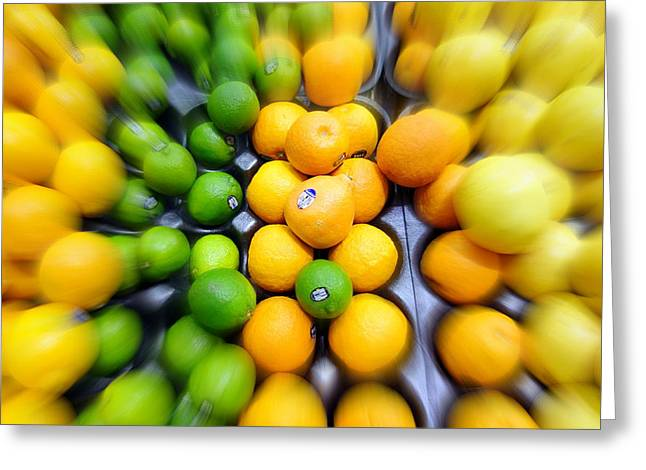 Sour Greeting Cards - Citrus Greeting Card by Valentino Visentini